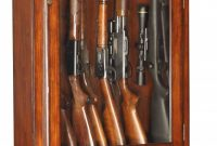 12 Gun Cabinet Wood Veneer With Locking Glass Display pertaining to sizing 650 X 1510