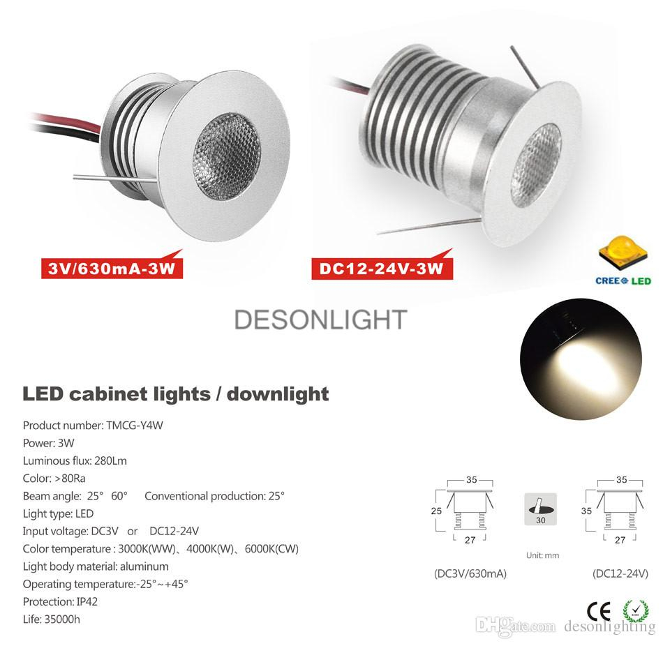 Recessed Display Cabinet Lights Wiring Diagram For Led Under Lighting 2018 3v 12v Kitchen Light Spotlight Cree Intended Sizing 950 X