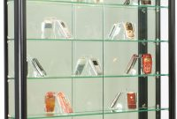 3x3 Wall Mounted Display Case Wslider Doors Mirror Back Locking with dimensions 953 X 1200