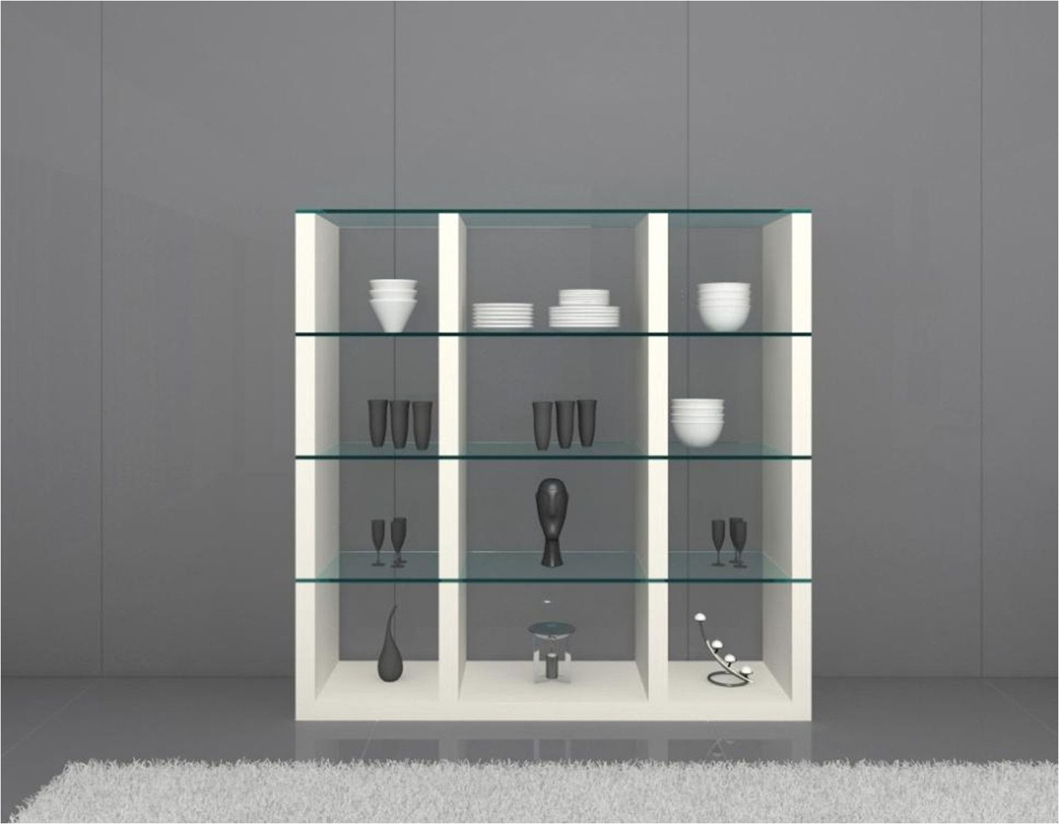 Contemporary Glass Display Cabinet Display Cabinet