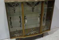 A 1950s Glass And Melamine Low Display Cabinet With Central Door intended for proportions 1522 X 1200