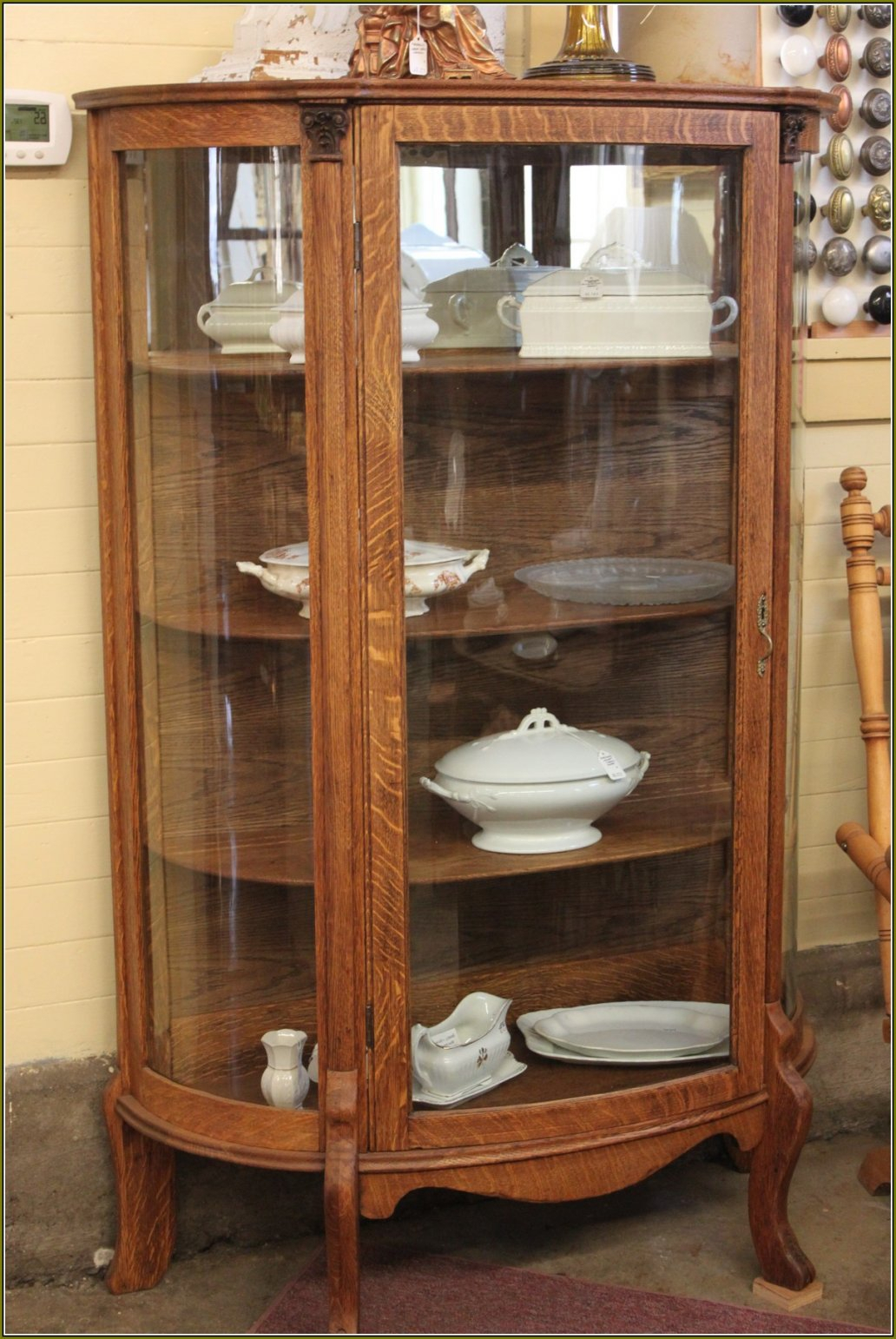 Antique Brown Wooden Glass Door Display Cabinets Of Amazing Glass inside  measurements 1032 X 1542 - Antique Wood And Glass Display Cabinets • Display Cabinet