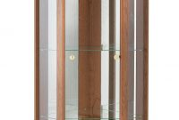 Argos Uk Home Single Door Corner Glass Display Cabinet Dark Oak for measurements 1132 X 2145