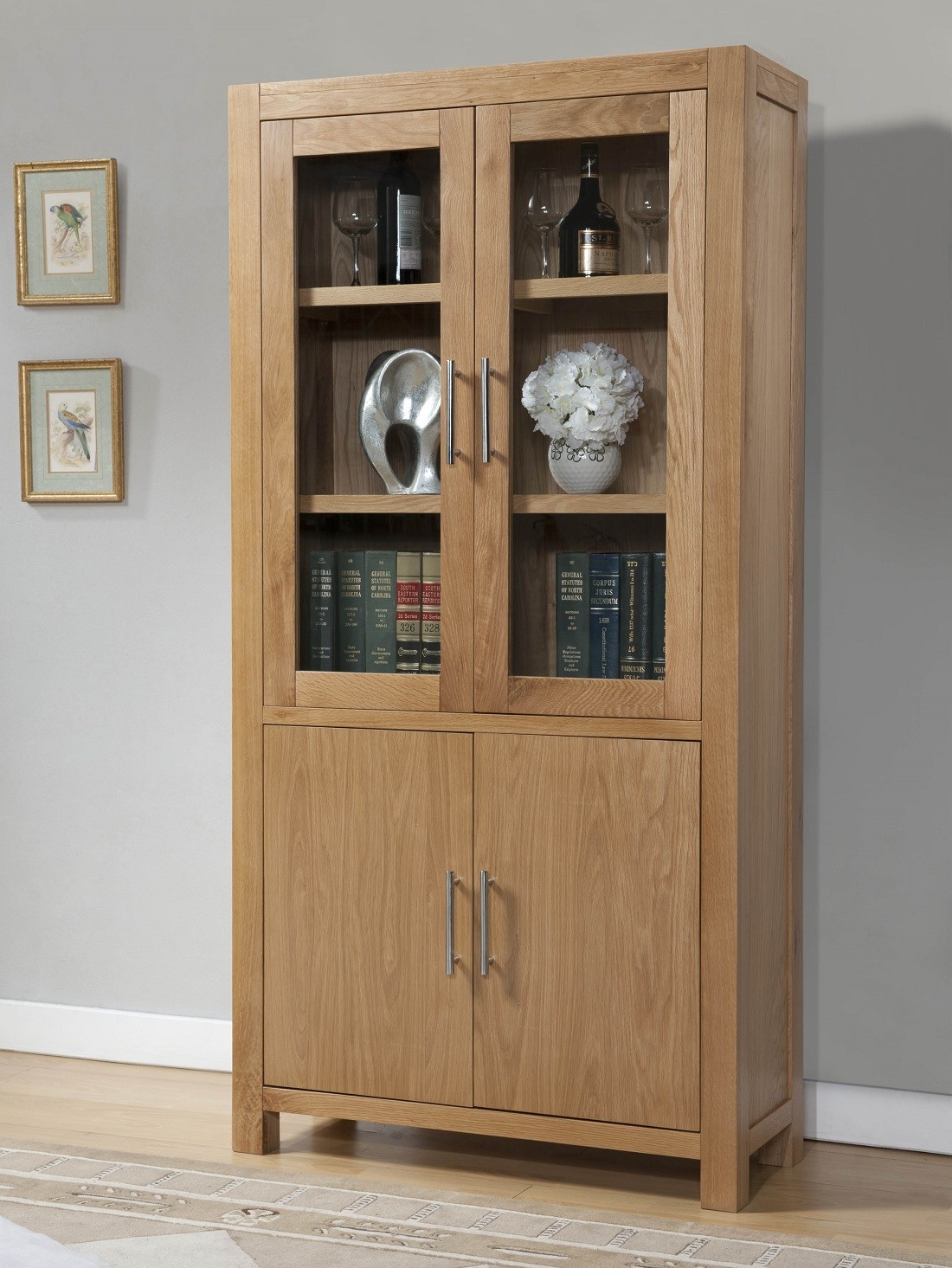 Aylesbury Contemporary Light Oak Display Cabinet Oak Furniture Uk pertaining to measurements 1100 X 1465