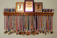 Black 4 Foot Award Medal Display Rack And Trophy Shelf Shelves throughout measurements 2625 X 2000
