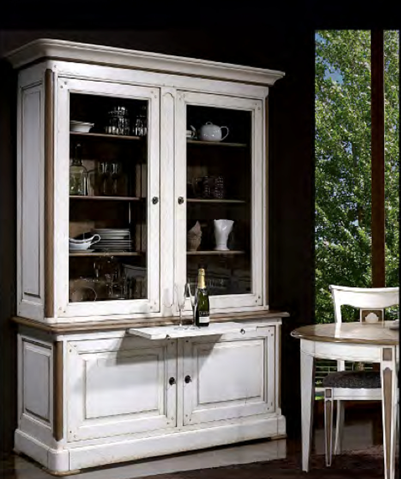 Bookcases French Country Style Elegance Buffet Display Cabinet With Regard To Measurements 822 X 980