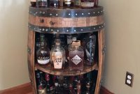 Bourbon Barrel Display Case Jim Beam Makers Mark Wild Turkey intended for proportions 1125 X 1500