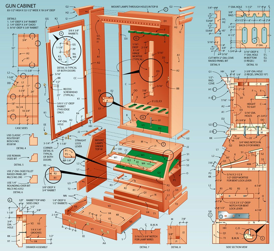 Build A Display Cabinet For Firearms Popular Mechanics Display inside size 1093 X 1000