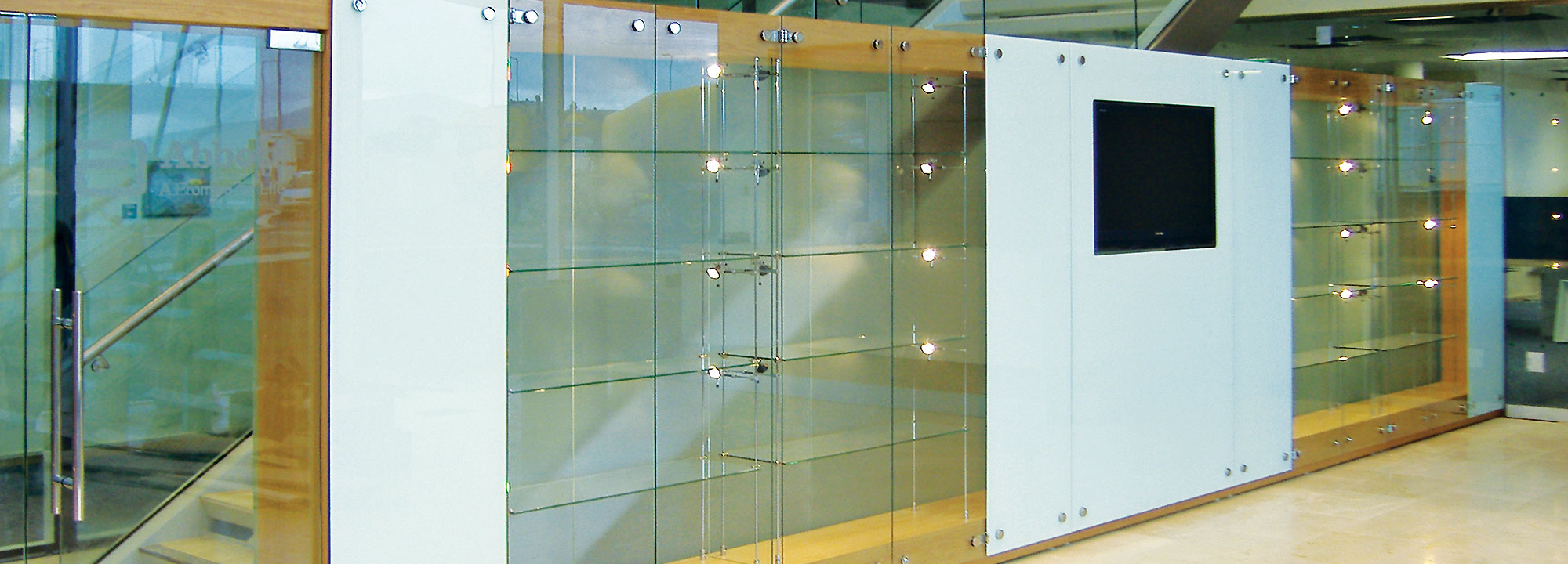 Built In Gl Display Cabinets Edgarpoe Throughout Measurements 2000 X 720