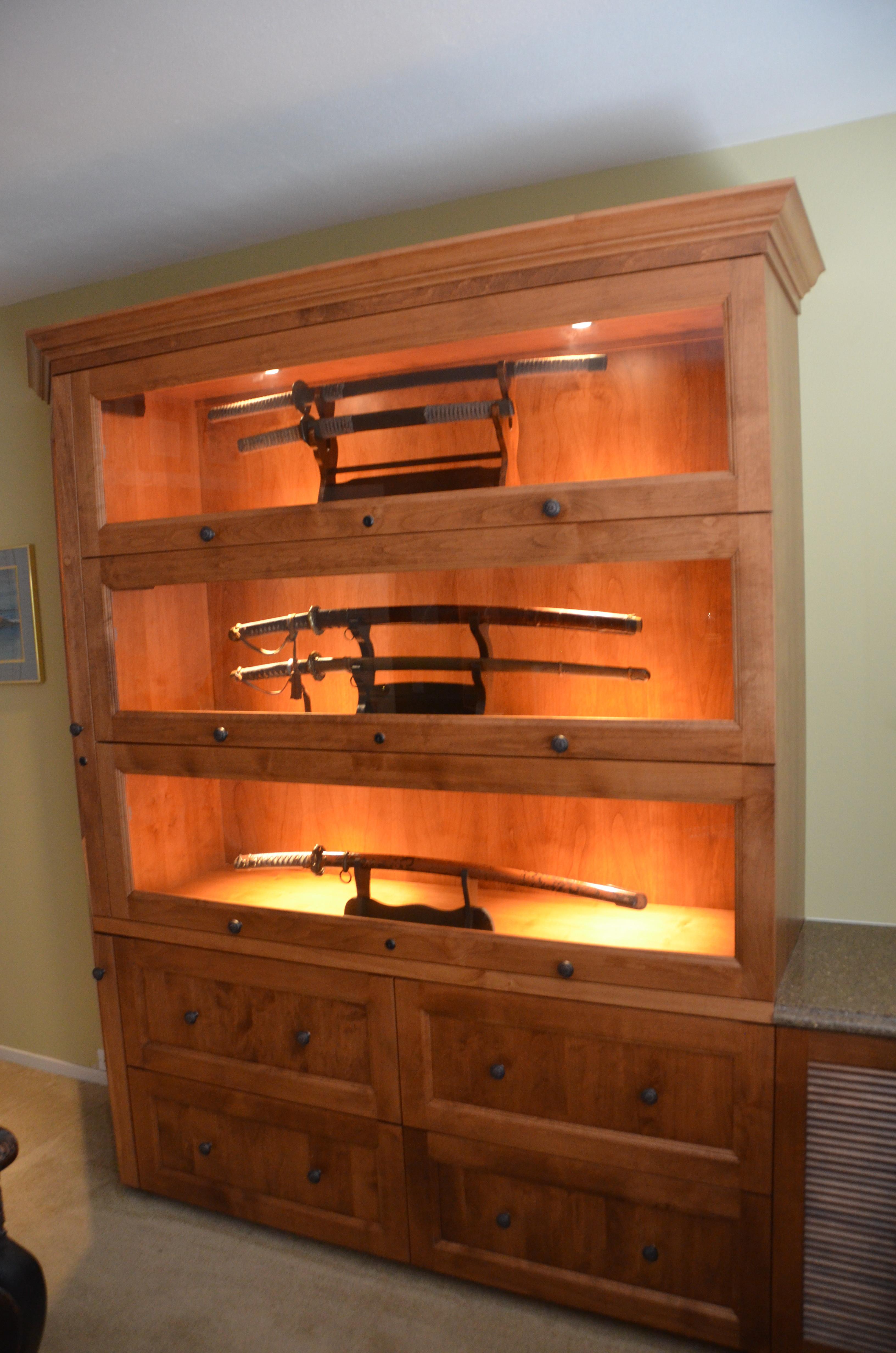 Sword Display Cabinet Display Cabinet
