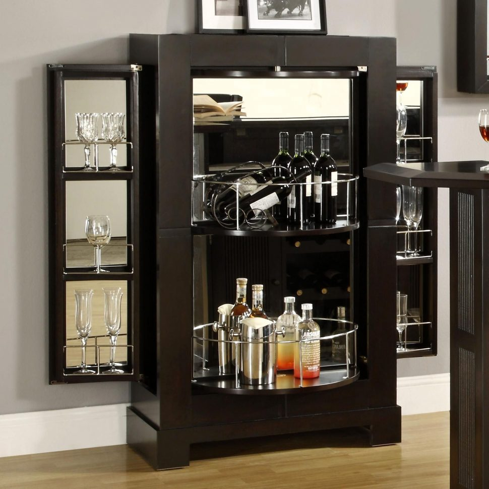Merveilleux Cabinet Ideas Floor Wine Rack Glass Display Cabinet Bar Cabinet Intended  For Proportions 970 X 970
