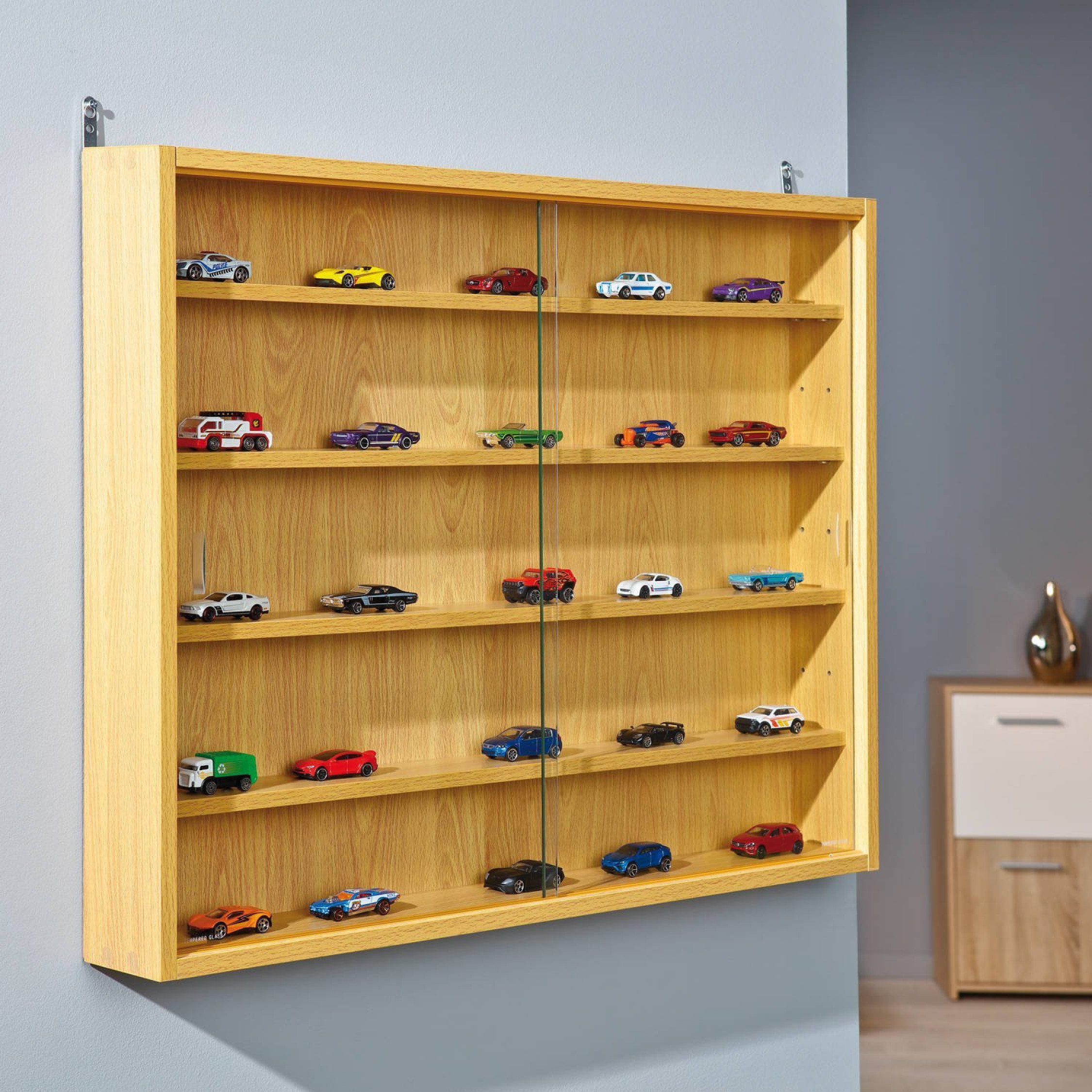 Collectors Display Cabinet Wooden Glass Shelves Vitrine Collections  Throughout Proportions 2250 X 2250