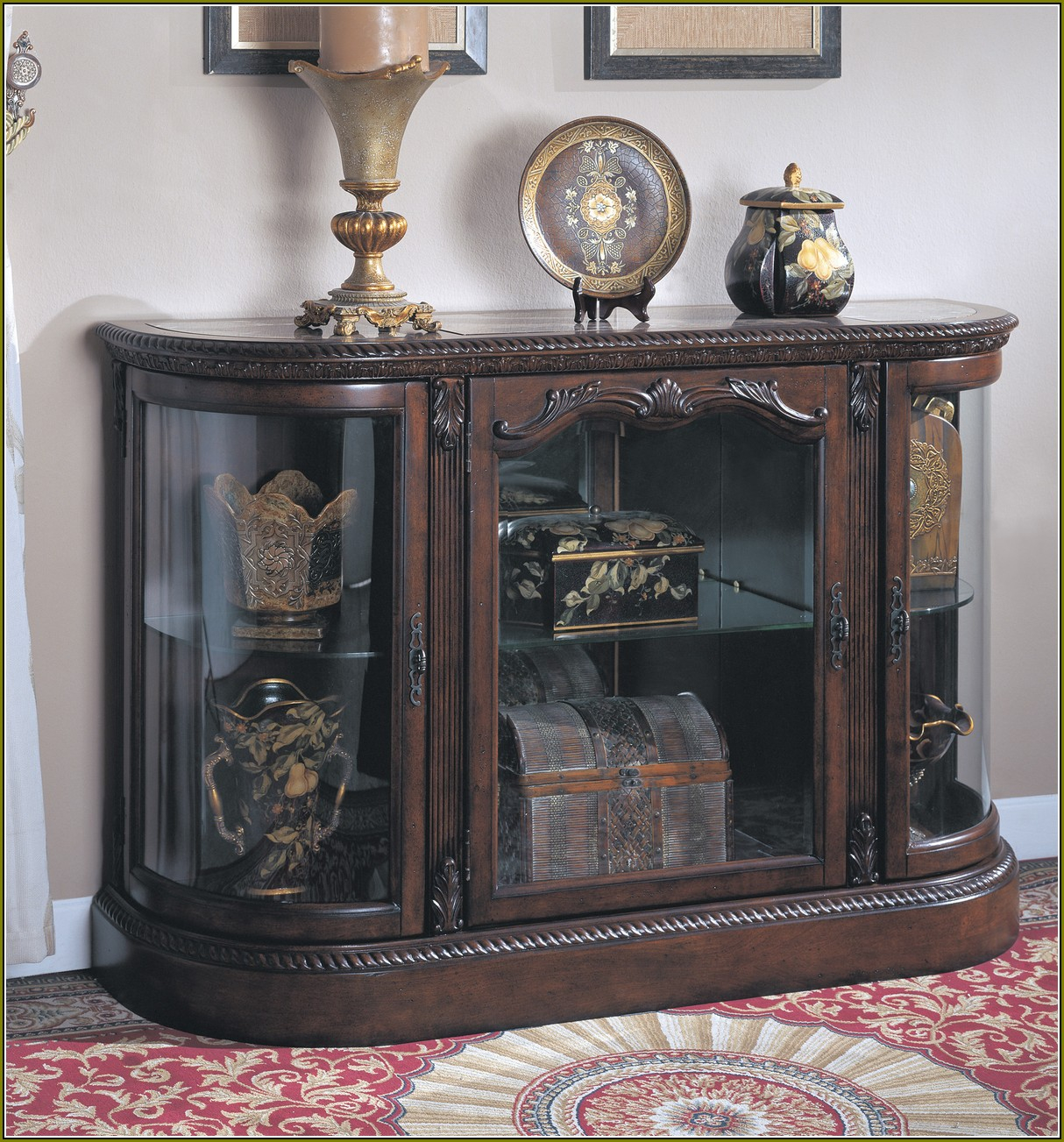 Console Curio Display Cabinet Edgarpoe For Size 1214 X 1303