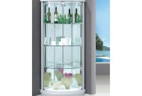 Corner Display Cabinet With 2 Glass Doors Lights Sunny Furniture regarding sizing 2000 X 1500