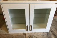 Cream Glass Fronted Homebase Kitchen Display Cabinet With Soft Close pertaining to proportions 1024 X 768