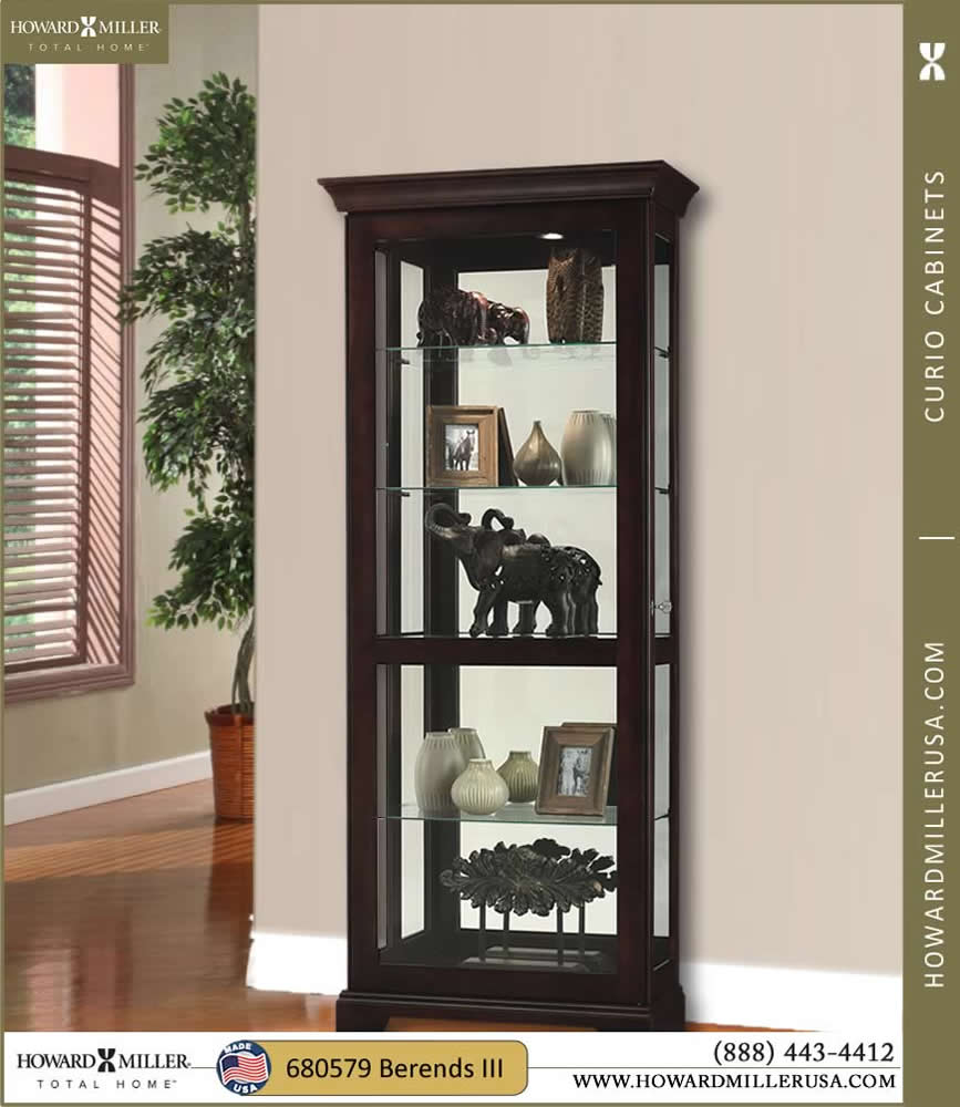 Curio Cabinets Contemporary Curio Cabinets Four Glass Shelf with size 867 X 1000