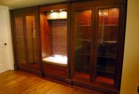 Custom Built In Cherry Display Cabinets Two Rivers Woodworking with measurements 1024 X 768