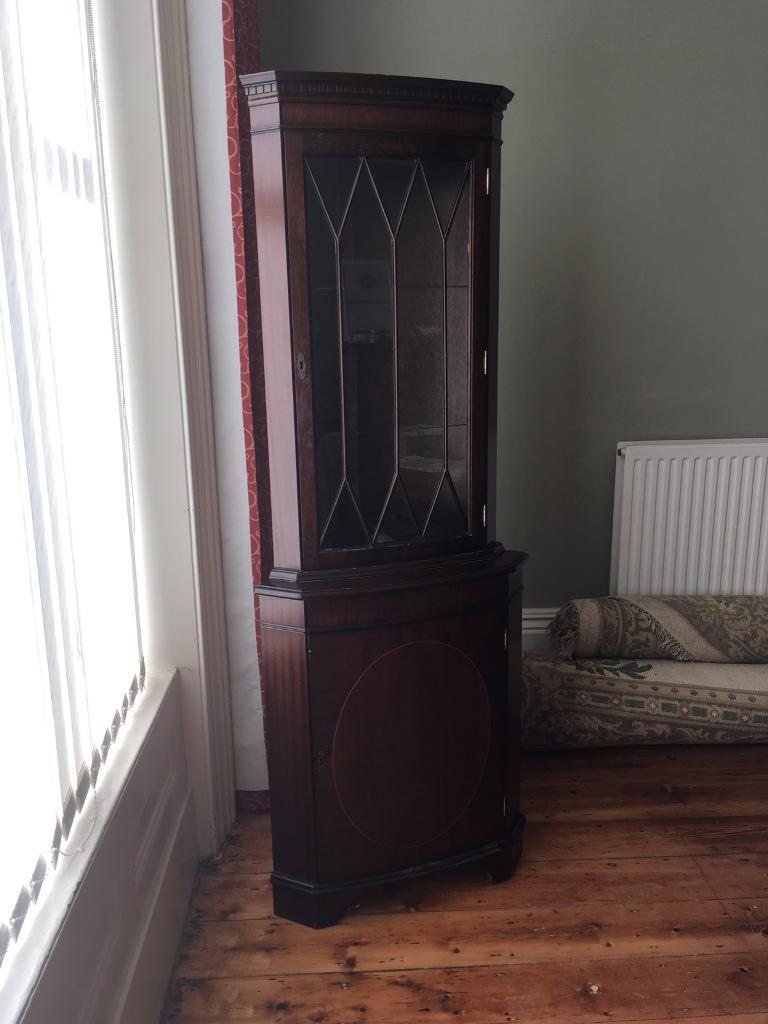 Dark Wood Corner Display Cabinet Edgarpoe For Measurements 768 X 1024
