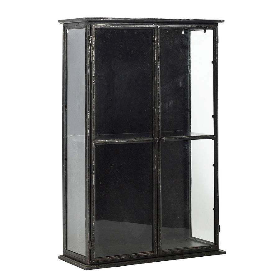 Distressed Industrial Glass Display Cabinet Out There Interiors for size 900 X 900