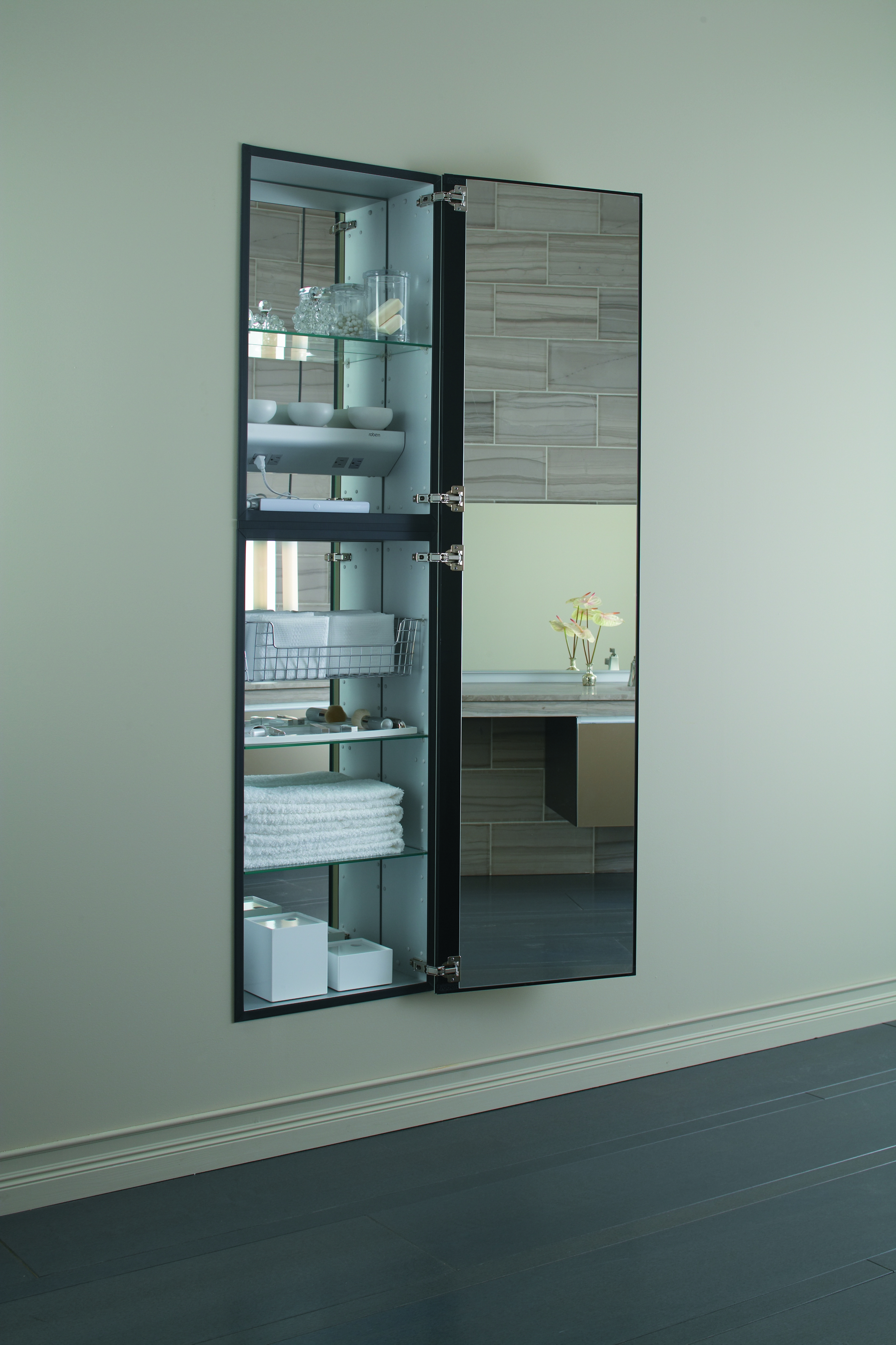 Fabulous Awesome Bathroom Recessed Medicine Cabinet Design With in sizing 3328 X 4992
