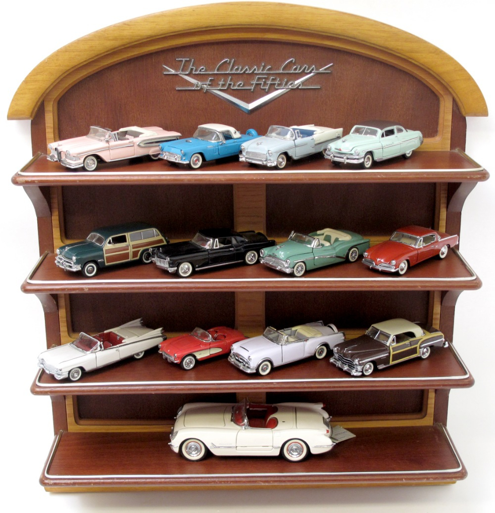 Franklin Mint Classic Cars Of 50s With Display Cabinet Consists throughout sizing 1000 X 1037