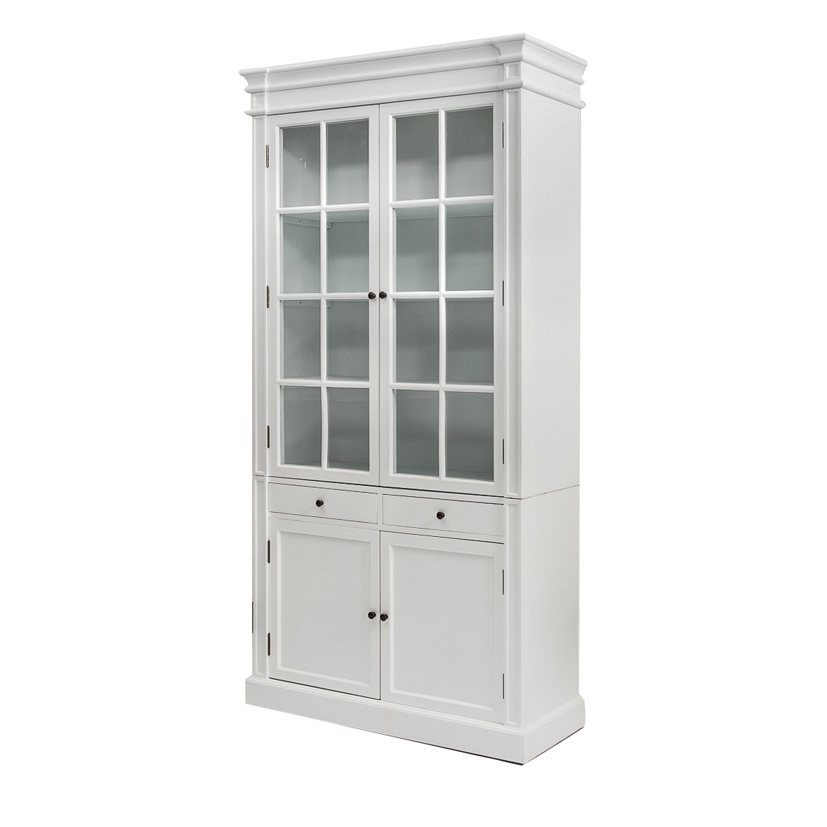 French Provincial Hamptons 2 Glass Door Display Cabinet Bookcase In For  Dimensions 1200 X 1200