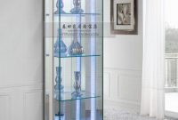 Furniture Modern And Inspiring Fully Glass Display Cabinet With Four pertaining to sizing 885 X 1024