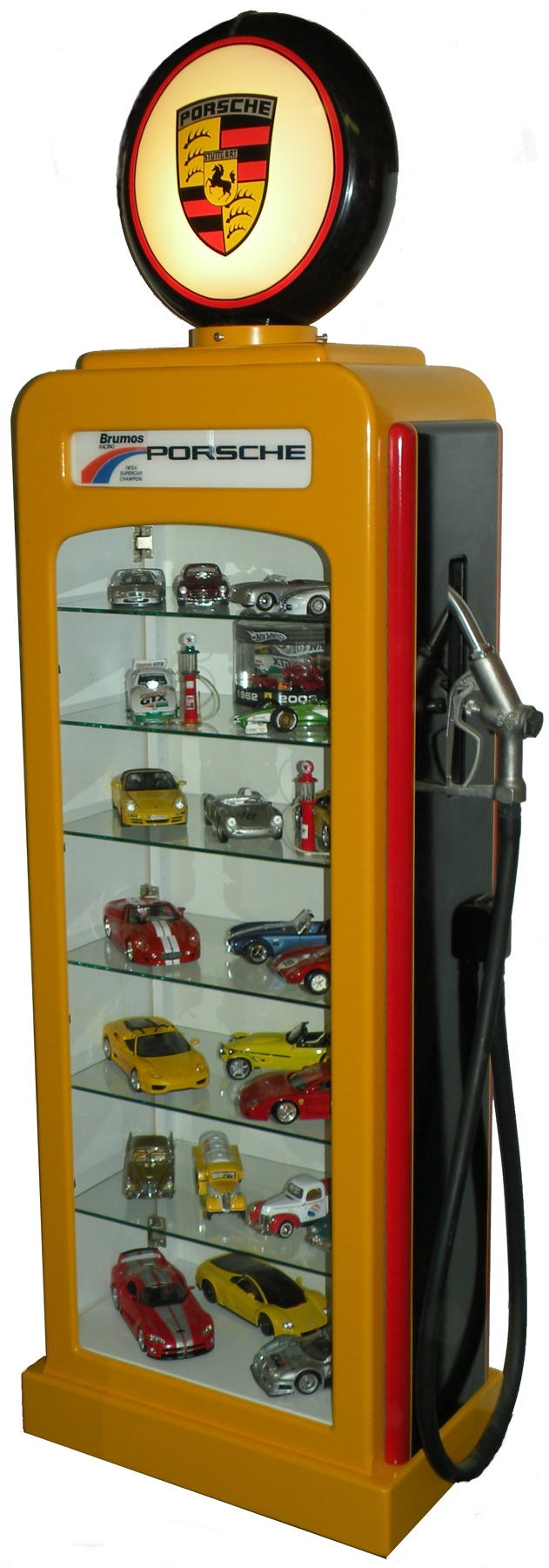 Gas Pump Display Cases regarding measurements 631 X 1800