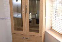 Harveys Hampshire Range Oak Display Cabinet In Dartford Kent pertaining to measurements 768 X 1024