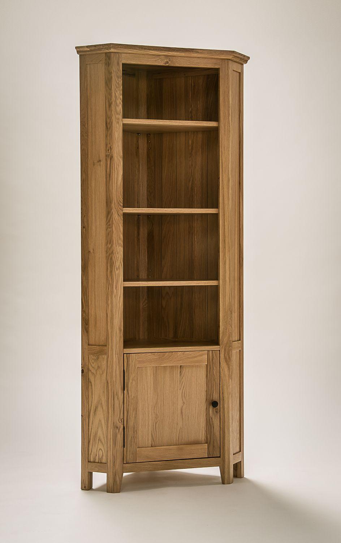 Hereford Rustic Oak Corner Display Cabinet Cabinets Regarding Dimensions 944 X 1500