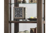 Howard Miller Caden Ii 680 608 Rustic Finish Curio Cabinet regarding proportions 700 X 1402