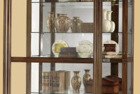 Howard Miller Ramsdell Walnut Curio Display Cabinet 680 473 within sizing 1587 X 2177