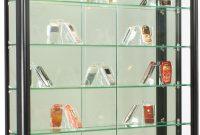 Illuminated Wall Display Cabinet Black Aluminum Framing throughout sizing 953 X 1200
