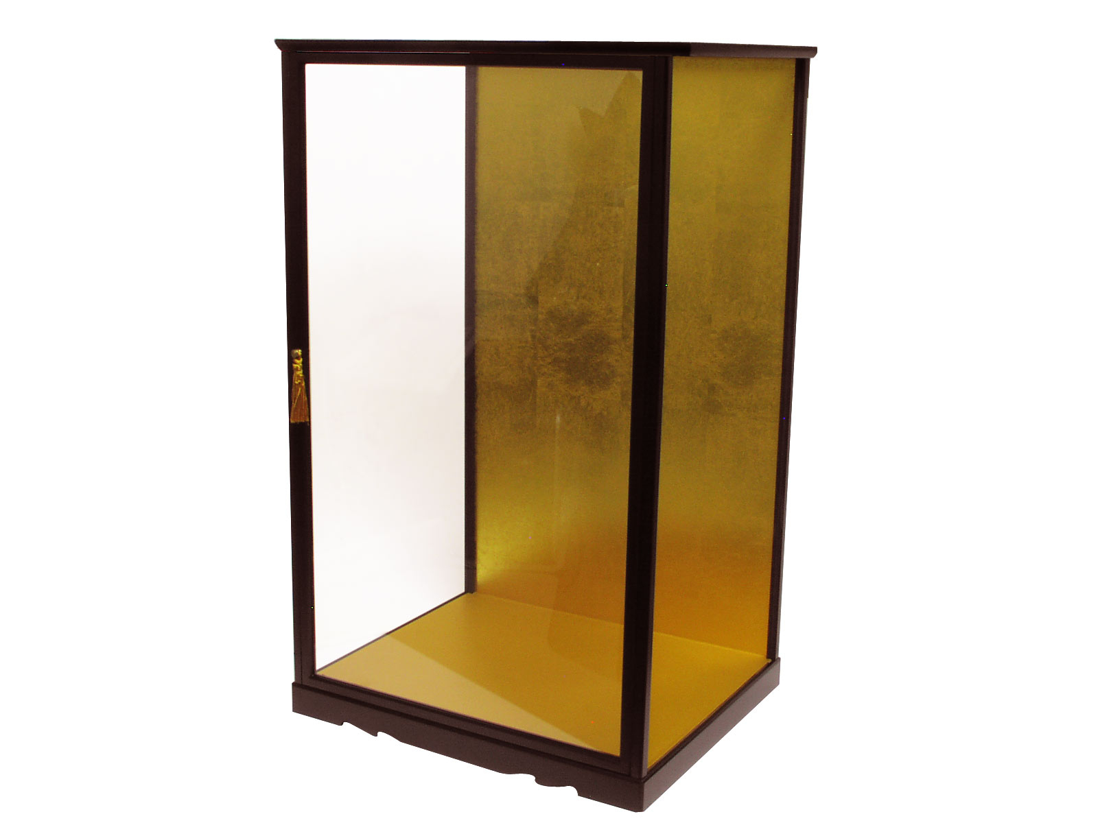 Japanese Large Wooden Glass Display Cases W 15 38 X D 13 X H 26 pertaining to size 1600 X 1200