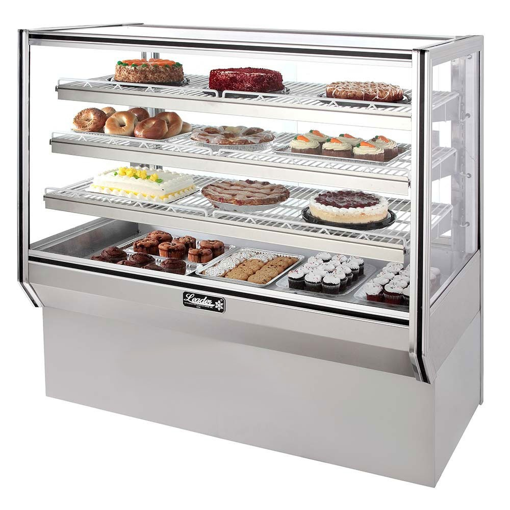 Leader Hbk48 48 Refrigerated Bakery Display Case Kitchenall New York intended for dimensions 1000 X 1000