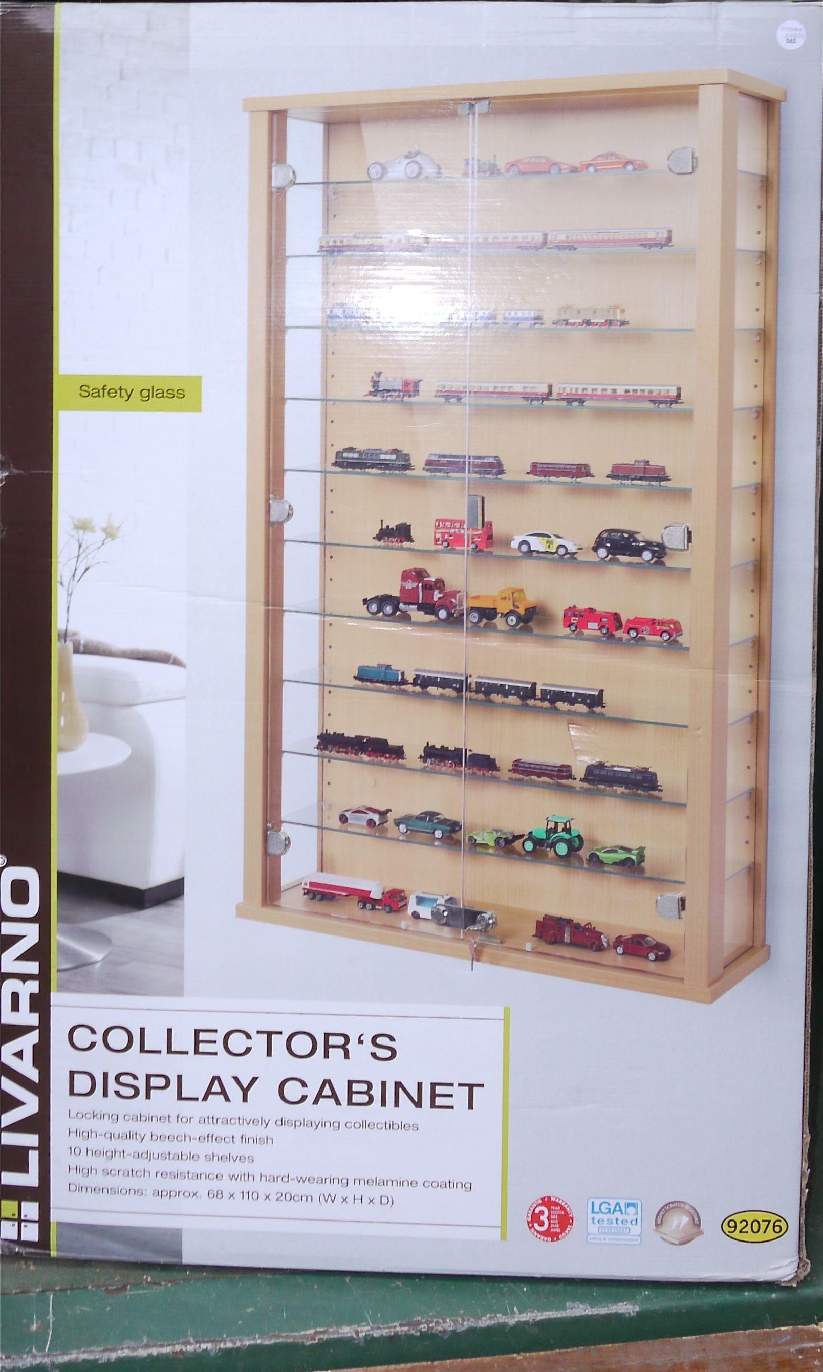 Livarno Collectors Display Cabinet Edgarpoe Regarding Proportions 1608 X  2681