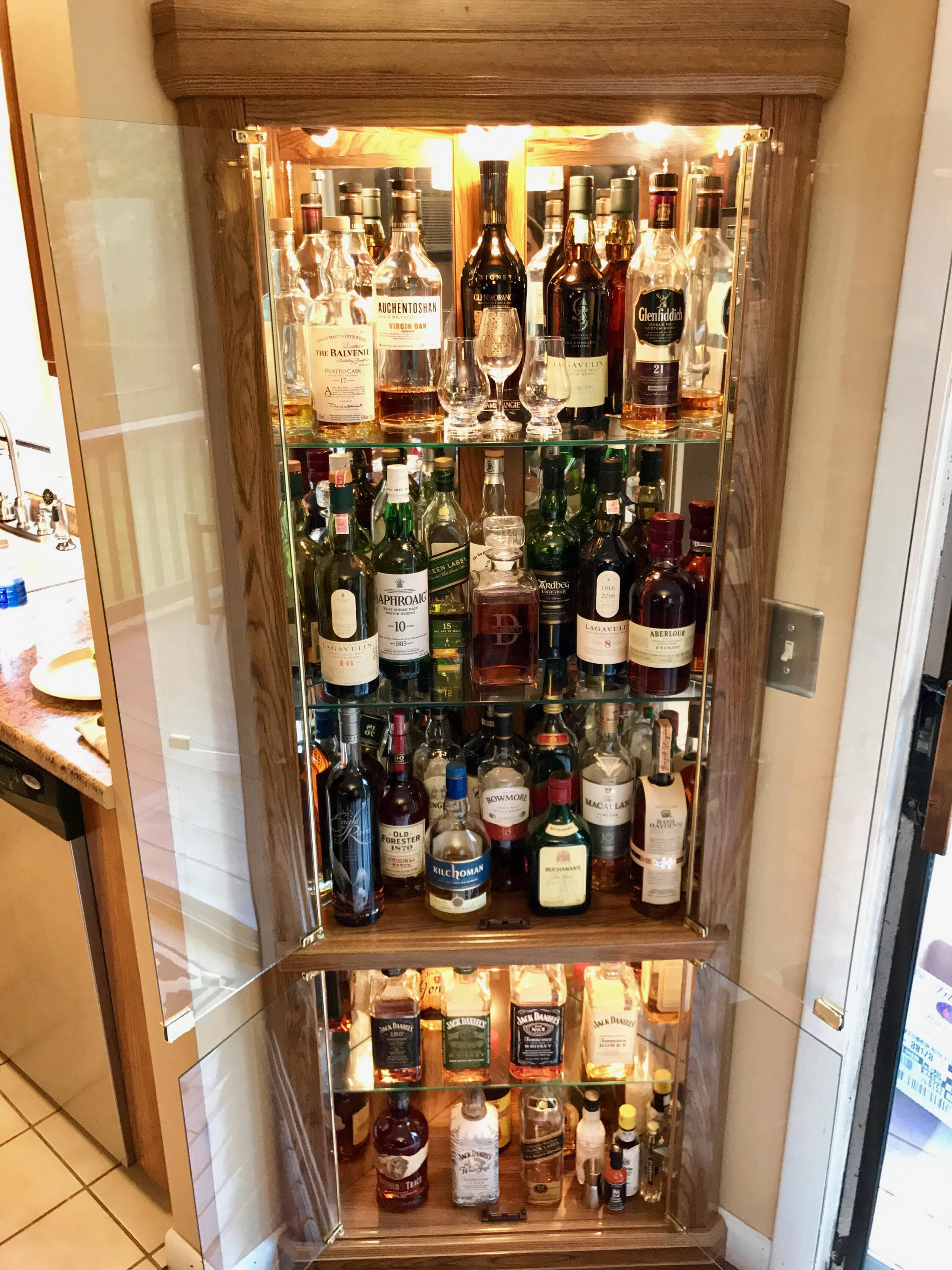 My Corner Whisky Cabinet Whiskey with measurements 2250 X 3000