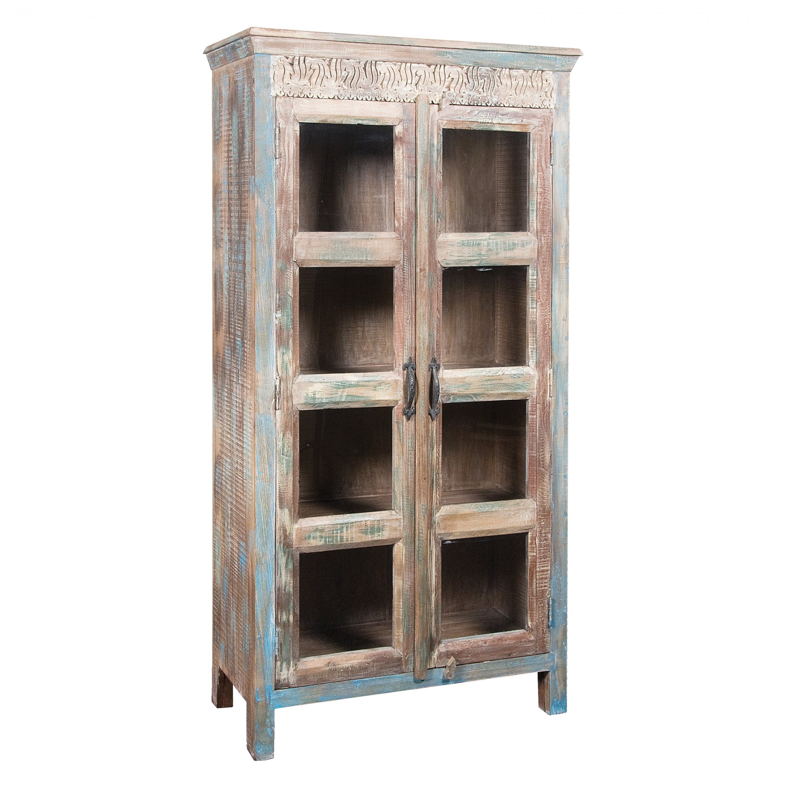 Tall Curio Cabinet With Glass Doors • Display Cabinet