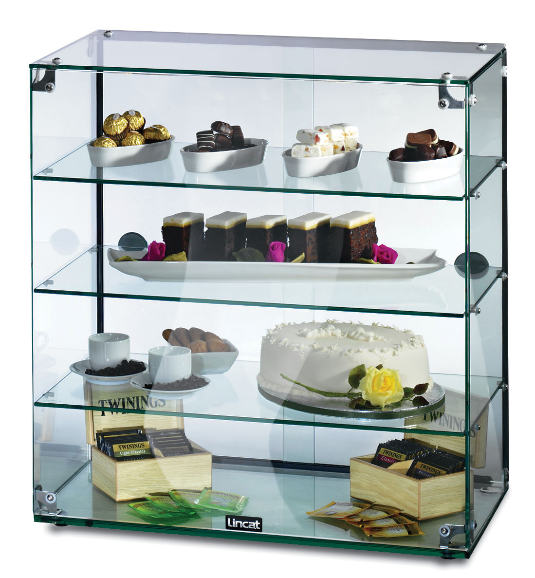 Seal Gc46d Glass Display Cabinet in measurements 1099 X 1187