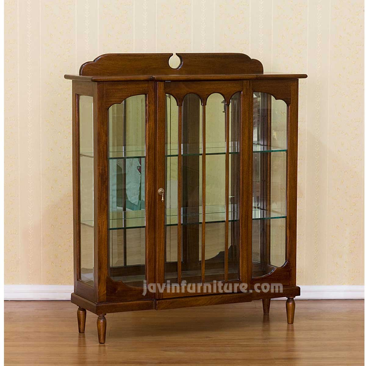 Small Wooden Display Cabinet With Gl Doors