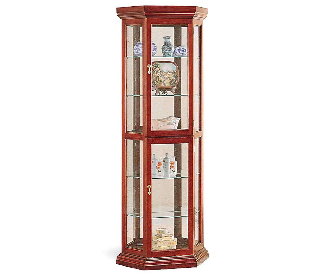 Tall Corner Display Cabinet With Glass Doors Divided Into Two Upper regarding dimensions 1300 X 1077