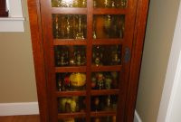 Tall Mission Style Display Cabinet With Light Sold Were inside dimensions 2736 X 3648