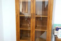 This Two Unit Teak Wood Display Cabinet With Glass Doors In The intended for sizing 2988 X 5312