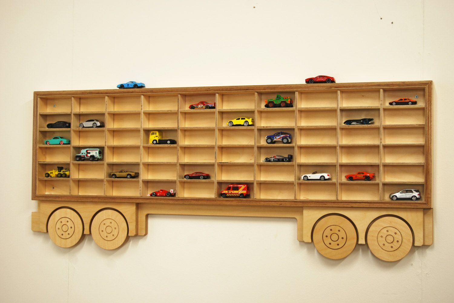 Toy Car Storage Truck Shelf Model Car Shelving Unit Lorry Shaped Intended  For Size 1500 X