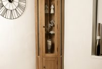 Tuscan Solid Oak Corner Display Cabinet Dressers Display in sizing 1000 X 1000