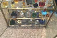 Vintage Display Cabinet Including Lots Of Miniature Perfume Bottles with sizing 1200 X 1600