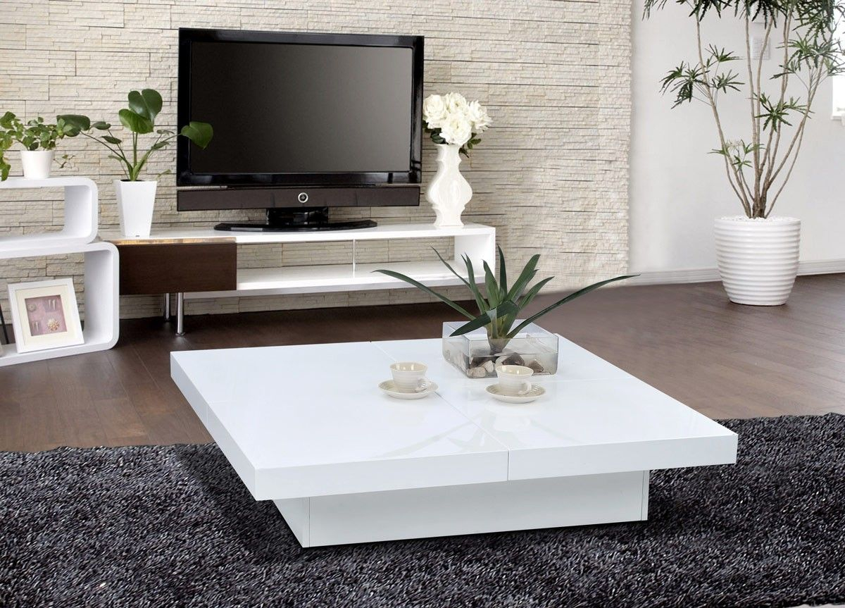 1005c Modern White Lacquer Coffee Table New Boutique Coffee regarding dimensions 1200 X 863