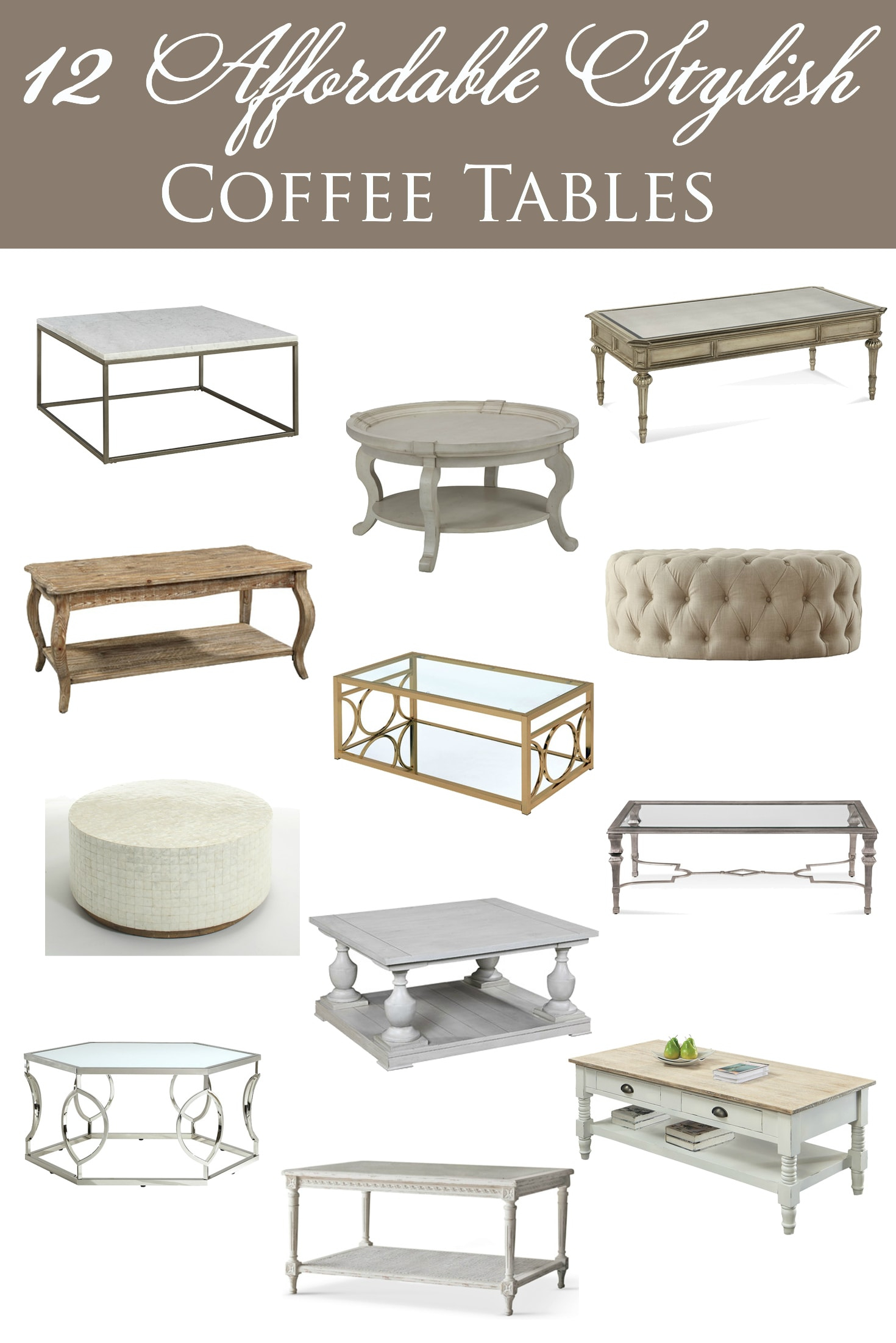 12 Affordable Stylish Coffee Tables in measurements 1470 X 2204