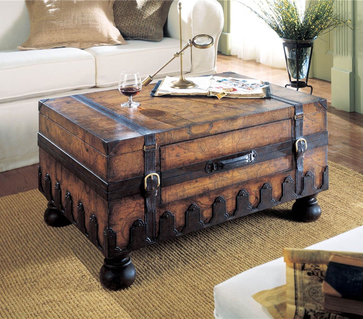 17 Old Trunks Turned Into Beautiful Vintage Table Sarah Trunk regarding proportions 1200 X 1054
