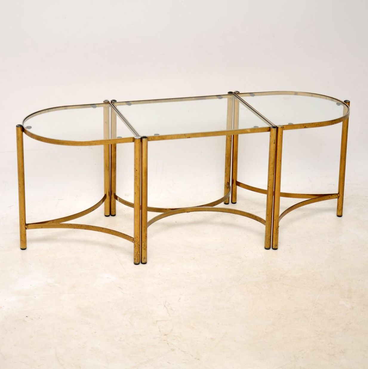 1960s Vintage Brass Coffee Table Side Tables Interior Boutiques with size 1233 X 1235